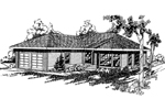 Ranch House Plan Front of Home - 085D-0365 | House Plans and More