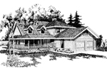 Farmhouse Plan Front of Home - 085D-0366 | House Plans and More