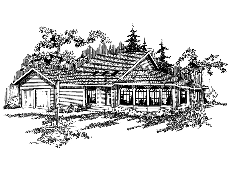 Traditional House Plan Front of Home - 085D-0367 | House Plans and More