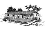 Ranch House Plan Front of Home - 085D-0368 | House Plans and More