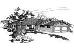 Ranch House Plan Front of Home - 085D-0370 | House Plans and More