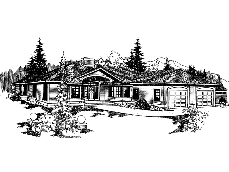 Traditional House Plan Front of Home - 085D-0371 | House Plans and More