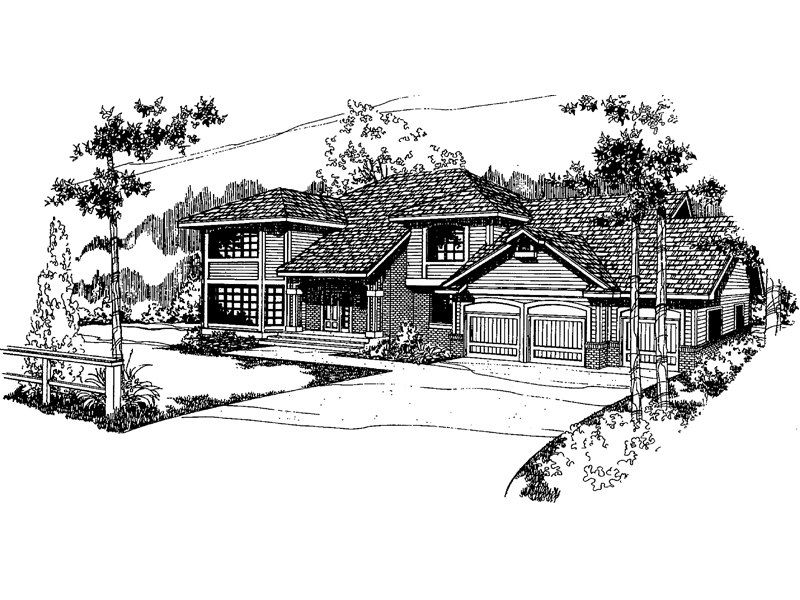 Traditional House Plan Front of Home - 085D-0372 | House Plans and More