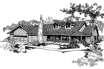 Traditional House Plan Front of Home - 085D-0373 | House Plans and More