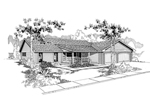 Ranch House Plan Front of Home - 085D-0375 | House Plans and More