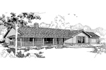 Traditional House Plan Front of Home - 085D-0376 | House Plans and More