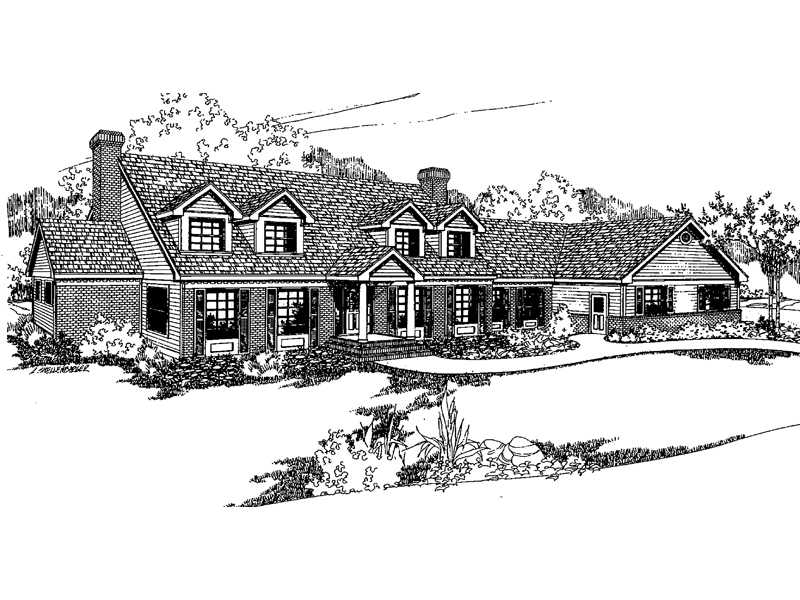 Traditional House Plan Front of Home - 085D-0377 | House Plans and More