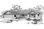 Ranch House Plan Front of Home - 085D-0378 | House Plans and More