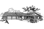 Ranch House Plan Front of Home - 085D-0379 | House Plans and More