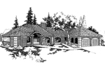 European House Plan Front of Home - 085D-0380 | House Plans and More