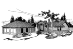 Ranch House Plan Front of Home - 085D-0382 | House Plans and More