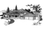 Contemporary House Plan Front of Home - 085D-0383 | House Plans and More