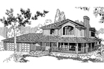 Contemporary House Plan Front of Home - 085D-0385 | House Plans and More