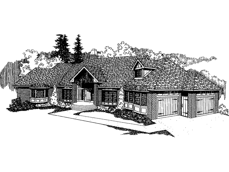 European House Plan Front of Home - 085D-0386 | House Plans and More