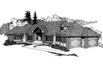 English Tudor House Plan Front of Home - 085D-0386 | House Plans and More
