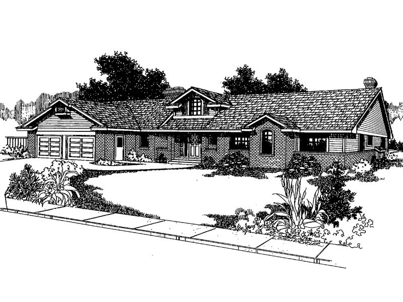 Bungalow House Plan Front of Home - 085D-0388 | House Plans and More