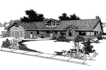 Ranch House Plan Front of Home - 085D-0388 | House Plans and More