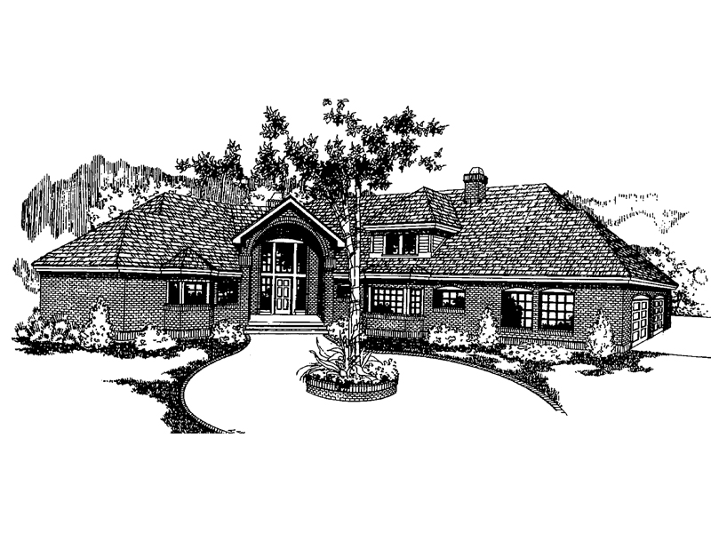 European House Plan Front of Home - 085D-0389 | House Plans and More