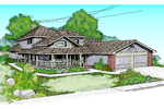 Country House Plan Front of Home - 085D-0390 | House Plans and More