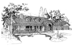 Traditional House Plan Front of Home - 085D-0391 | House Plans and More