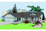 Traditional House Plan Front of Home - 085D-0392 | House Plans and More