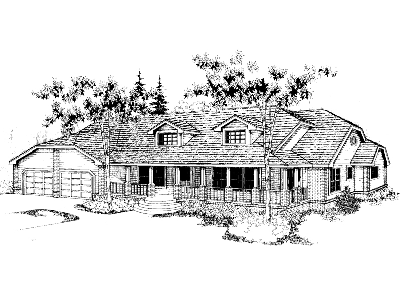 Country House Plan Front of Home - 085D-0393 | House Plans and More