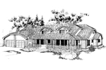 English Tudor House Plan Front of Home - 085D-0393 | House Plans and More