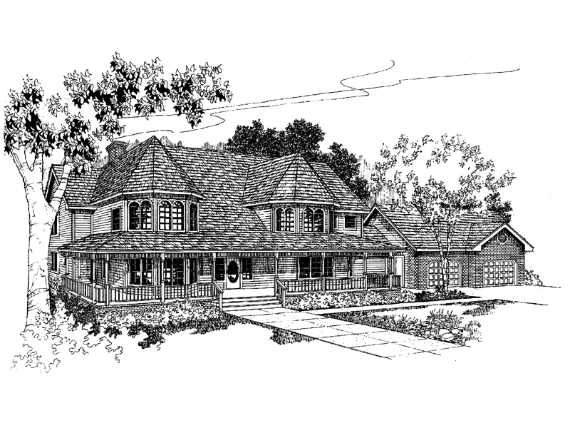Victorian House Plan Front of Home - 085D-0394 | House Plans and More