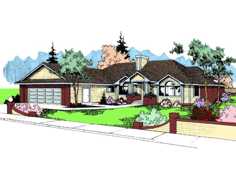 Traditional House Plan Front of Home - 085D-0397 | House Plans and More