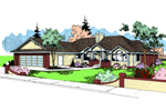 Ranch House Plan Front of Home - 085D-0397 | House Plans and More