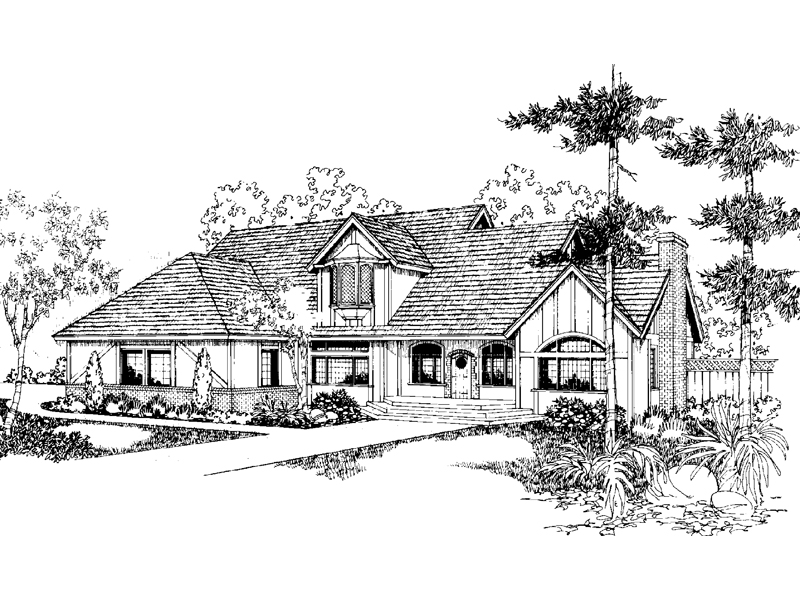 Luxury House Plan Front of Home - 085D-0398 | House Plans and More