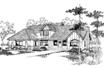English Cottage House Plan Front of Home - 085D-0398 | House Plans and More