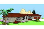 Angled Stucco House Has Southwestern Style