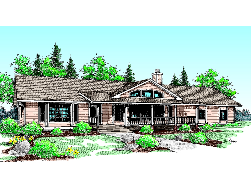 Country House Plan Front of Home - 085D-0443 | House Plans and More