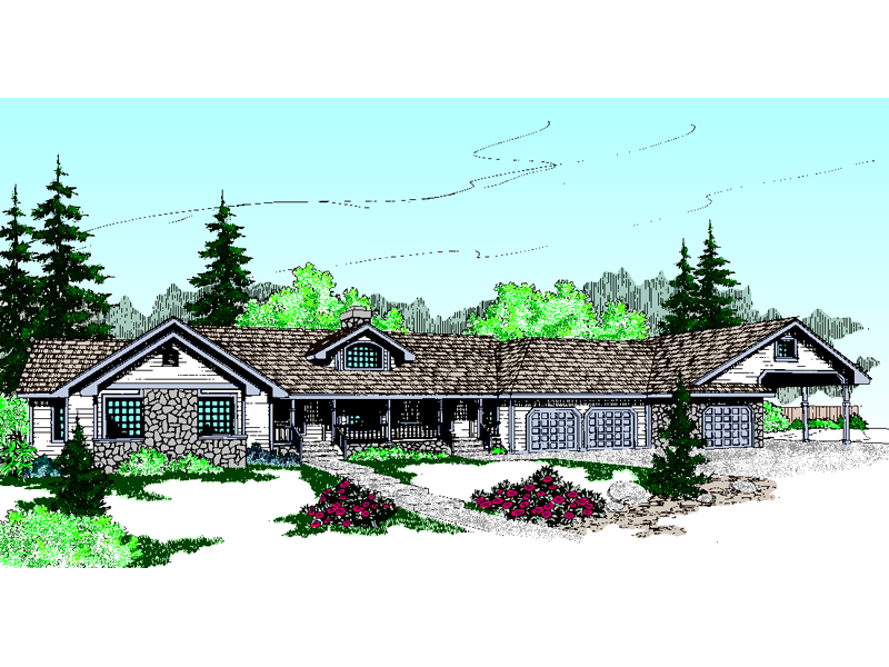 Luxury Ranch With Subtle Stone Features
