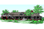 Country Ranch Home With Wrap-Around Porch