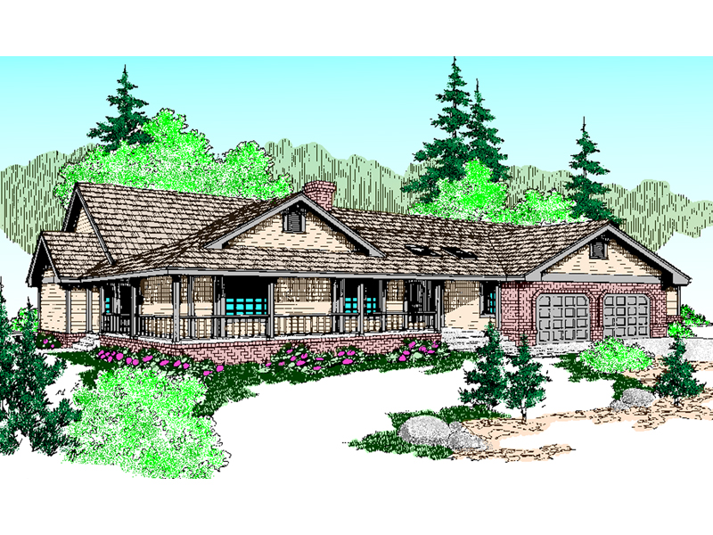 Country House Plan Front of Home - 085D-0461 | House Plans and More