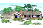 Ranch House Plan Front of Home - 085D-0463 | House Plans and More