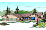 Ranch House Plan Front of Home - 085D-0464 | House Plans and More