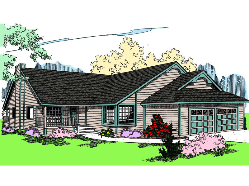 Ranch House Plan Front of Home - 085D-0465 | House Plans and More