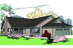 Contemporary House Plan Front of Home - 085D-0465 | House Plans and More