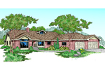 Ranch House Plan Front of Home - 085D-0466 | House Plans and More