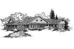 Ranch House Plan Front of Home - 085D-0467 | House Plans and More