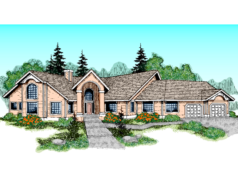 European House Plan Front of Home - 085D-0468 | House Plans and More