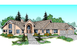 Ranch House Plan Front of Home - 085D-0468 | House Plans and More