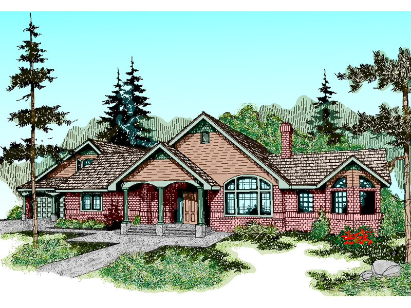Craftsman House Plan Front of Home - 085D-0469 | House Plans and More