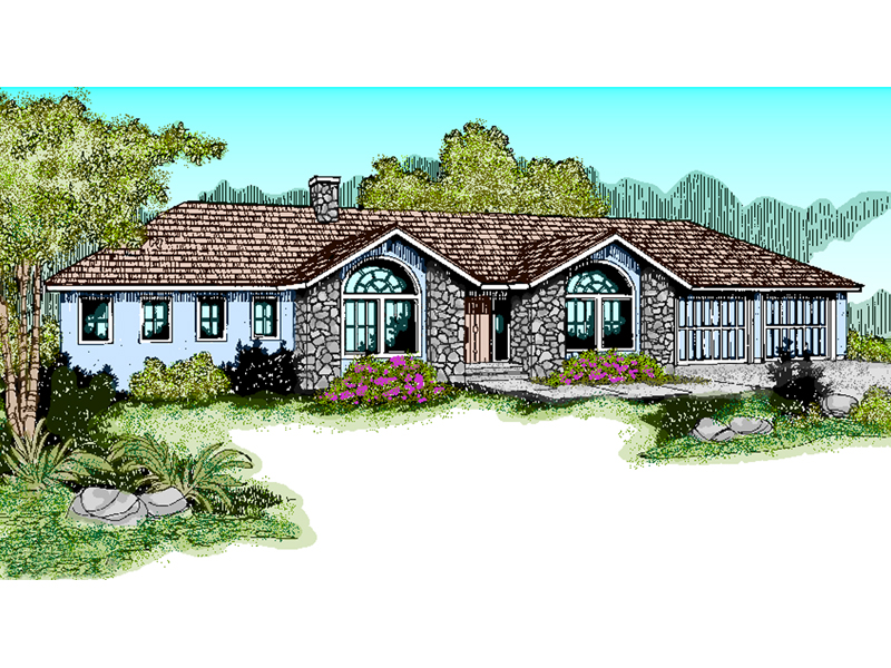 European House Plan Front of Home - 085D-0470 | House Plans and More