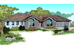 Ranch House Plan Front of Home - 085D-0470 | House Plans and More