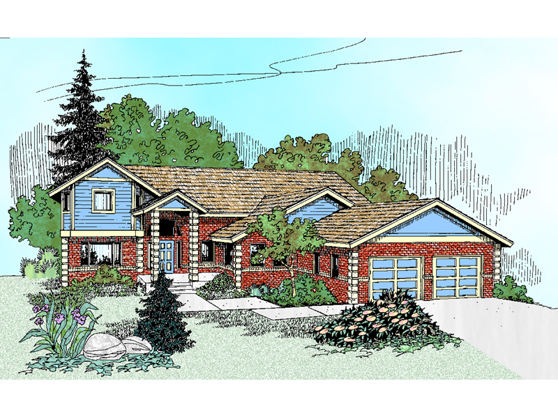 Craftsman House Plan Front of Home - 085D-0471 | House Plans and More