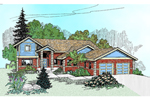 Contemporary House Plan Front of Home - 085D-0471 | House Plans and More